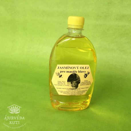 OLEJ JASMÍNOVÝ pro masáž hlavy ÁJUR KUTI HAIR OIL - výživný vlasový olej
