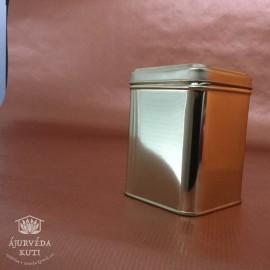 Dóza - krabička plechová zlatá velká