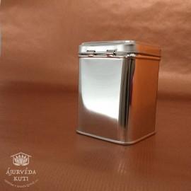 Dóza - krabička plechová stříbrná velká