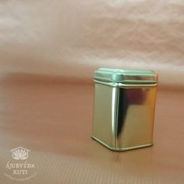 Dóza - krabička plechová zlatá malá