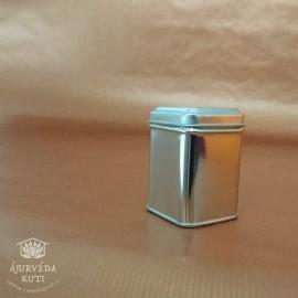 Dóza - krabička plechová stříbrná malá